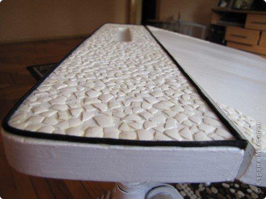 Декор предметов, Мастер-класс Декупаж: Жил-был стол...(реставрация). Салфетки, Скорлупа яичная, Шпагат. Фото 6