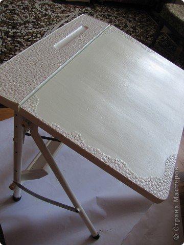 Декор предметов, Мастер-класс Декупаж: Жил-был стол...(реставрация). Салфетки, Скорлупа яичная, Шпагат. Фото 7