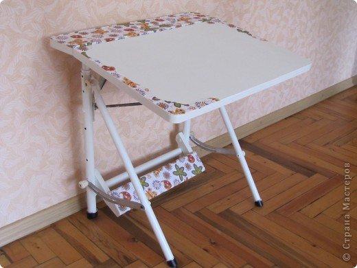 Декор предметов, Мастер-класс Декупаж: Жил-был стол...(реставрация). Салфетки, Скорлупа яичная, Шпагат. Фото 10