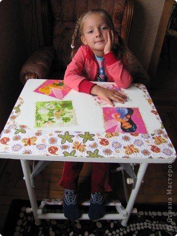 Декор предметов, Мастер-класс Декупаж: Жил-был стол...(реставрация). Салфетки, Скорлупа яичная, Шпагат. Фото 16