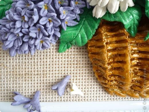Картина, панно Лепка: Сирень Тесто соленое. Фото 4