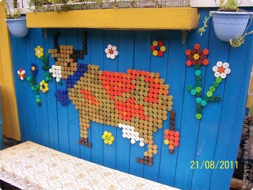 Оберег Мозаика: Бурёнка. Материал бросовый Отдых. Фото 1