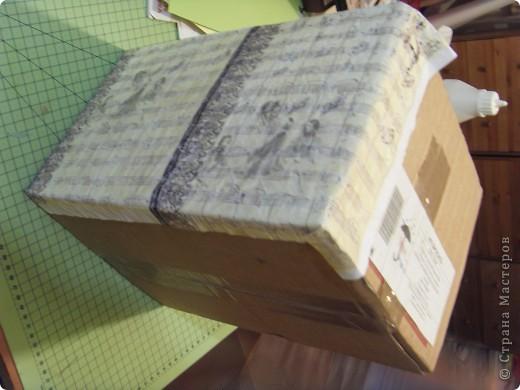 Скрапбукинг Аппликация: Коробка для музыкальных инструментов.  Бумага. Фото 4