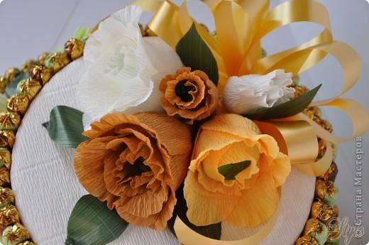 Свит-дизайн: Конфетный торт. 8 марта, День рождения, Новый год, Свадьба. Фото 3