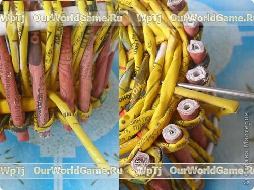 Мастер-класс Плетение: Мастер-класс ажурная корзинка из газетных трубочек. Бумага газетная. Фото 15