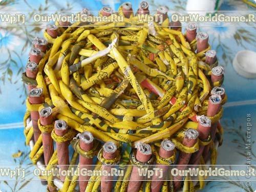 Мастер-класс Плетение: Мастер-класс ажурная корзинка из газетных трубочек. Бумага газетная. Фото 16
