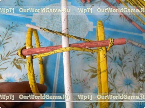 Мастер-класс Плетение: Мастер-класс ажурная корзинка из газетных трубочек. Бумага газетная. Фото 8