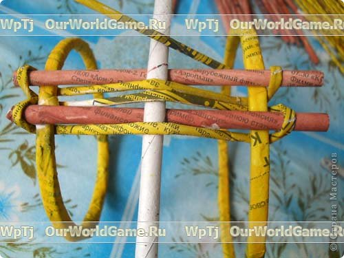 Мастер-класс Плетение: Мастер-класс ажурная корзинка из газетных трубочек. Бумага газетная. Фото 9