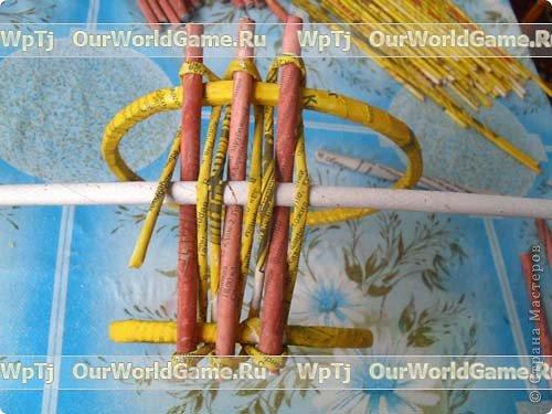 Мастер-класс Плетение: Мастер-класс ажурная корзинка из газетных трубочек. Бумага газетная. Фото 10