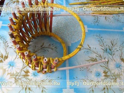 Мастер-класс Плетение: Мастер-класс ажурная корзинка из газетных трубочек. Бумага газетная. Фото 11