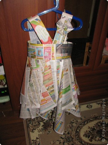 Платье из газеты инструкция для детей