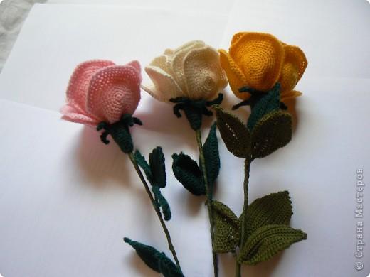 Мастер-класс Вязание крючком: Делаем розу Нитки. Фото 1