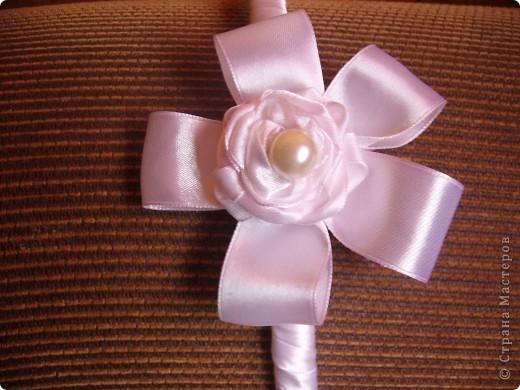 : Розы из атласных лент Ленты.  Фото 3.