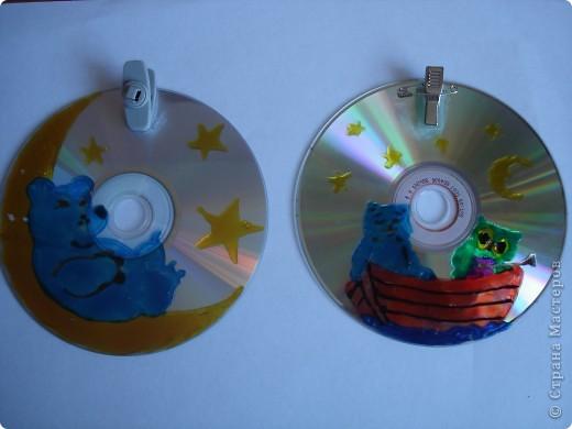 Экологические поделки из дисков 50