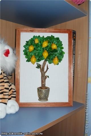 Картина, панно, Мастер-класс, Поделка, изделие Лепка: Лимонное дерево, или как его делала я Тесто соленое 8 марта, День рождения, День учителя. Фото 3