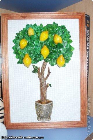 Картина, панно, Мастер-класс, Поделка, изделие Лепка: Лимонное дерево, или как его делала я Тесто соленое 8 марта, День рождения, День учителя. Фото 1