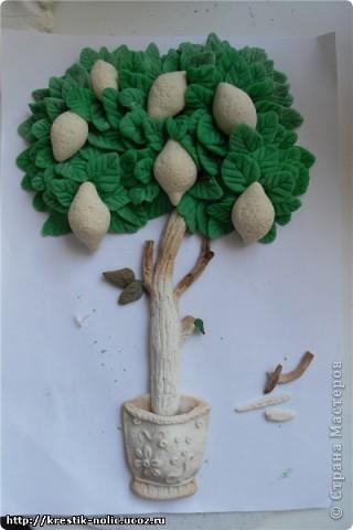 Картина, панно, Мастер-класс, Поделка, изделие Лепка: Лимонное дерево, или как его делала я Тесто соленое 8 марта, День рождения, День учителя. Фото 12