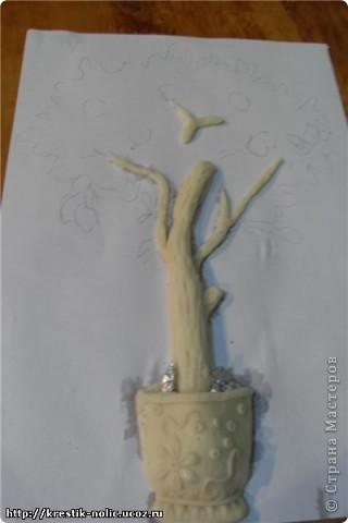 Картина, панно, Мастер-класс, Поделка, изделие Лепка: Лимонное дерево, или как его делала я Тесто соленое 8 марта, День рождения, День учителя. Фото 8