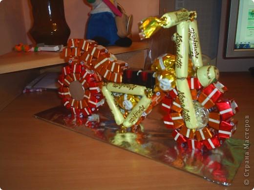 Мастер-класс, Свит-дизайн: Мотоцикл из конфет. 23 февраля, Дебют, День рождения. Фото 1