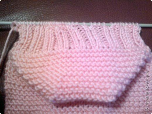 Мастер-класс, Презент от Голубки Вязание крючком, Вязание спицами: носочки-сапожки Пряжа. Фото 13