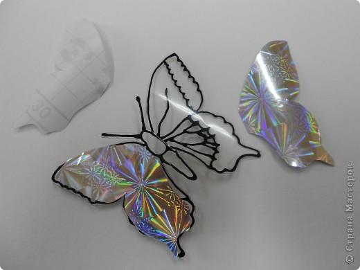 Мастер-класс: Бабочка на бутылке из под воды Бутылки пластиковые. Фото 14