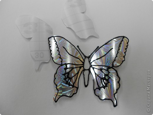Мастер-класс: Бабочка на бутылке из под воды Бутылки пластиковые. Фото 15