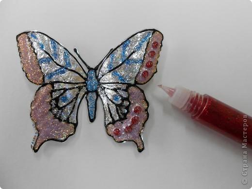 Мастер-класс: Бабочка на бутылке из под воды Бутылки пластиковые. Фото 19