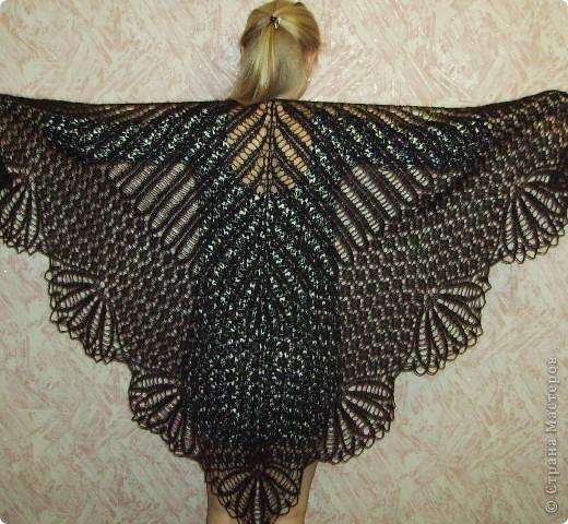 Вязание шали хирна