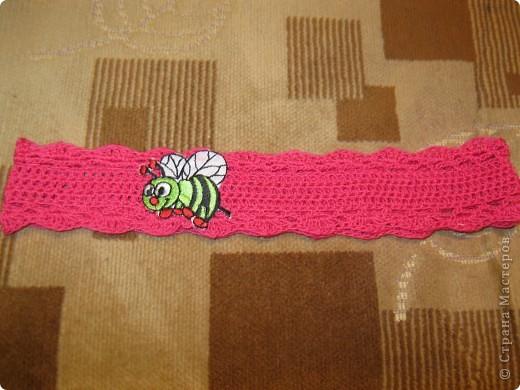 Украшение Вязание крючком: полоски на голову Пряжа.  Фото 2.