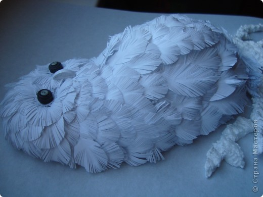 Поделка, изделие Бумагопластика: Моя совушка Бумага. Фото 3