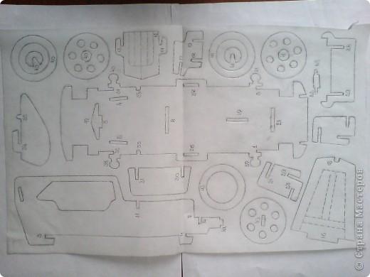 Поделки для мальчиков Выпиливание: Модели автомобилей Фанера. Фото 16