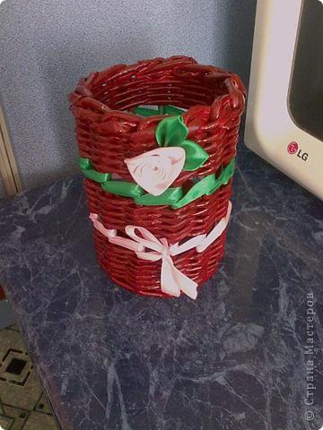 Мастер-класс Плетение: МК для Насти.Как я делаю дырявую корзину Бумага журнальная. Фото 45