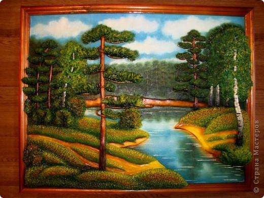 Картина, панно Лепка: Природа и (повторюшка) Тесто соленое. Фото 1