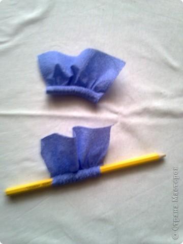 Мастер-класс Гофротрубочки: изготовление букетов из салфеток Салфетки. Фото 5