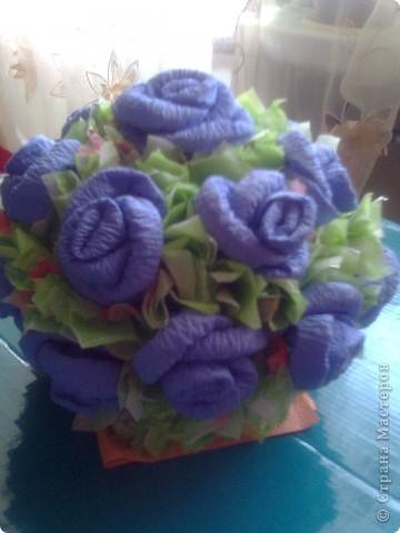 Мастер-класс Гофротрубочки: изготовление букетов из салфеток Салфетки. Фото 1