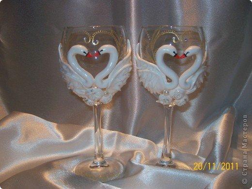 Декор предметов Лепка: Лебеди, лебеди.... Бисер, Бусинки, Пластика Свадьба. Фото 1