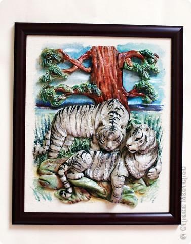 Картина, панно, Мастер-класс Лепка: Тигры (мастер-класс) Тесто соленое. Фото 2
