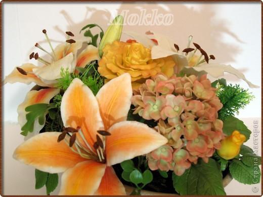 Поделка, изделие Лепка: Просто лилии Глина. Фото 1
