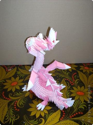 Мастер-класс Оригами модульное: Динозаврик Бумага Новый год. Фото 27