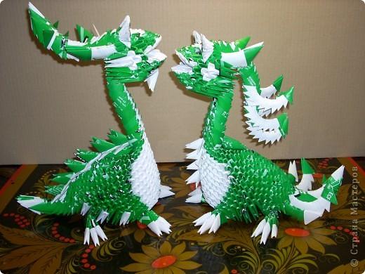 Мастер-класс Оригами модульное: Динозаврик Бумага Новый год. Фото 28