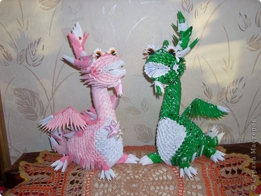 Мастер-класс Оригами модульное: Динозаврик Бумага Новый год. Фото 29