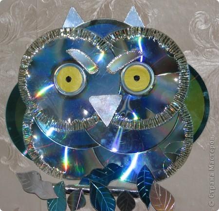 Мастер-класс: Делаем сову из CD дисков (МК) Идея взята по картинке из Интернета (фото ниже) Диски компьютерные. Фото 38