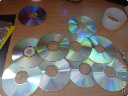Мастер-класс: Делаем сову из CD дисков (МК) Идея взята по картинке из Интернета (фото ниже) Диски компьютерные. Фото 3