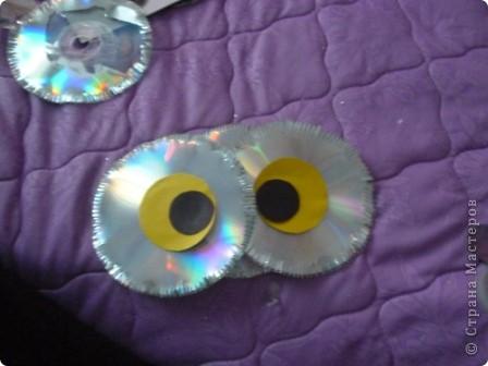 Мастер-класс: Делаем сову из CD дисков (МК) Идея взята по картинке из Интернета (фото ниже) Диски компьютерные. Фото 23