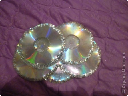 Мастер-класс: Делаем сову из CD дисков (МК) Идея взята по картинке из Интернета (фото ниже) Диски компьютерные. Фото 32