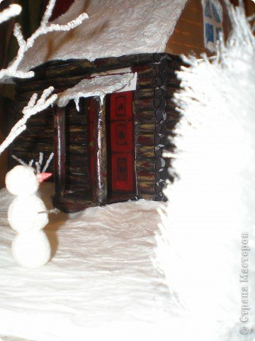 """Проект Макет: Наш макет """"Рождественское утро"""". На выставку. Бумага Рождество. Фото 25"""
