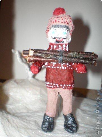 """Проект Макет: Наш макет """"Рождественское утро"""". На выставку. Бумага Рождество. Фото 26"""