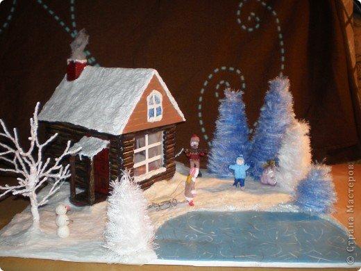"""Проект Макет: Наш макет """"Рождественское утро"""". На выставку. Бумага Рождество. Фото 1"""