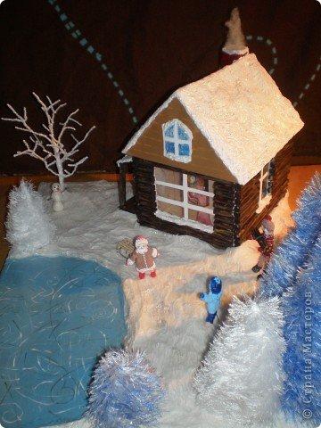 """Проект Макет: Наш макет """"Рождественское утро"""". На выставку. Бумага Рождество. Фото 28"""