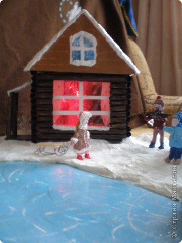 """Проект Макет: Наш макет """"Рождественское утро"""". На выставку. Бумага Рождество. Фото 30"""
